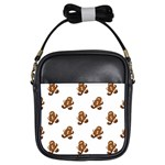 Gingerbread Seamless Pattern Girls Sling Bags Front