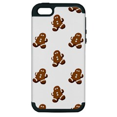 Gingerbread Seamless Pattern Apple Iphone 5 Hardshell Case (pc+silicone)