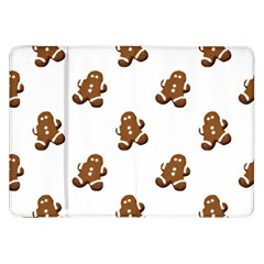Gingerbread Seamless Pattern Samsung Galaxy Tab 8 9  P7300 Flip Case by Nexatart