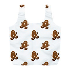 Gingerbread Seamless Pattern Full Print Recycle Bags (l)