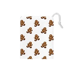 Gingerbread Seamless Pattern Drawstring Pouches (small)  by Nexatart