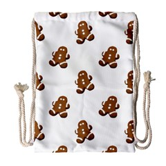 Gingerbread Seamless Pattern Drawstring Bag (large)