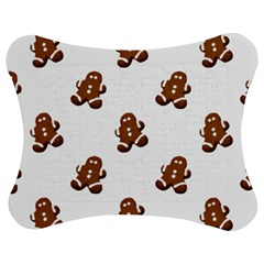 Gingerbread Seamless Pattern Jigsaw Puzzle Photo Stand (bow) by Nexatart