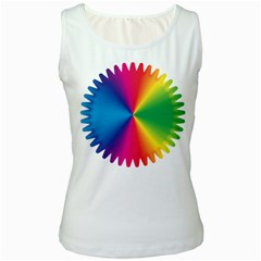Rainbow Seal Re Imagined Women s White Tank Top