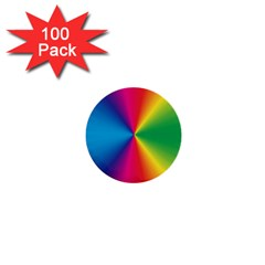 Rainbow Seal Re Imagined 1  Mini Buttons (100 Pack)