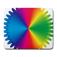 Rainbow Seal Re Imagined Large Mousepads by Nexatart