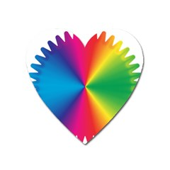 Rainbow Seal Re Imagined Heart Magnet by Nexatart