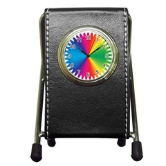 Rainbow Seal Re Imagined Pen Holder Desk Clocks