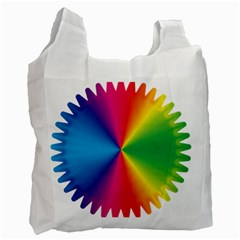 Rainbow Seal Re Imagined Recycle Bag (one Side)