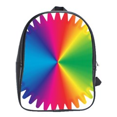 Rainbow Seal Re Imagined School Bags(large)  by Nexatart