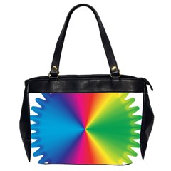 Rainbow Seal Re Imagined Office Handbags (2 Sides)  by Nexatart