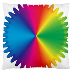 Rainbow Seal Re Imagined Large Cushion Case (two Sides) by Nexatart