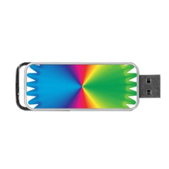 Rainbow Seal Re Imagined Portable Usb Flash (one Side) by Nexatart