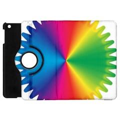 Rainbow Seal Re Imagined Apple Ipad Mini Flip 360 Case by Nexatart