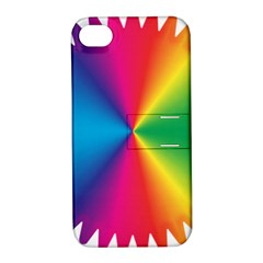 Rainbow Seal Re Imagined Apple Iphone 4/4s Hardshell Case With Stand