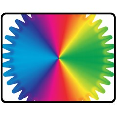 Rainbow Seal Re Imagined Double Sided Fleece Blanket (medium)