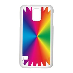 Rainbow Seal Re Imagined Samsung Galaxy S5 Case (white) by Nexatart