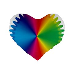 Rainbow Seal Re Imagined Standard 16  Premium Flano Heart Shape Cushions