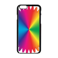 Rainbow Seal Re Imagined Apple Iphone 6/6s Black Enamel Case by Nexatart