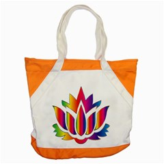 Rainbow Lotus Flower Silhouette Accent Tote Bag by Nexatart