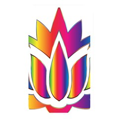 Rainbow Lotus Flower Silhouette Memory Card Reader