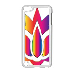 Rainbow Lotus Flower Silhouette Apple Ipod Touch 5 Case (white)