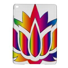 Rainbow Lotus Flower Silhouette Ipad Air 2 Hardshell Cases