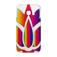 Rainbow Lotus Flower Silhouette Galaxy S6 Edge by Nexatart