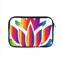 Rainbow Lotus Flower Silhouette Apple Macbook Pro 15  Zipper Case by Nexatart