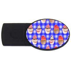 Cake Pattern Usb Flash Drive Oval (4 Gb) by Nexatart