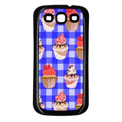 Cake Pattern Samsung Galaxy S3 Back Case (black) by Nexatart