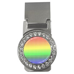 Rainbow Love Money Clips (cz)
