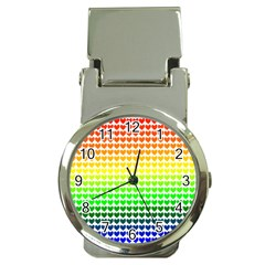 Rainbow Love Money Clip Watches