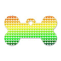 Rainbow Love Dog Tag Bone (two Sides)