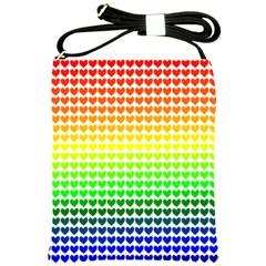 Rainbow Love Shoulder Sling Bags by Nexatart