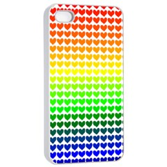 Rainbow Love Apple Iphone 4/4s Seamless Case (white)