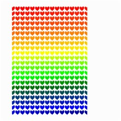 Rainbow Love Small Garden Flag (two Sides) by Nexatart
