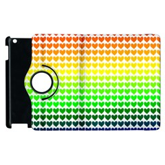 Rainbow Love Apple Ipad 2 Flip 360 Case by Nexatart