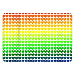 Rainbow Love Samsung Galaxy Tab 8 9  P7300 Flip Case by Nexatart