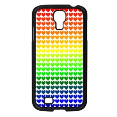 Rainbow Love Samsung Galaxy S4 I9500/ I9505 Case (black) by Nexatart