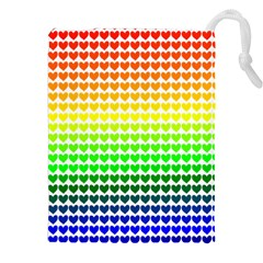 Rainbow Love Drawstring Pouches (xxl) by Nexatart