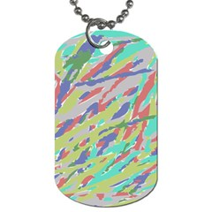Crayon Texture Dog Tag (one Side)