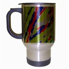 Crayon Texture Travel Mug (silver Gray) by Nexatart