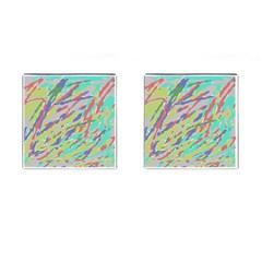 Crayon Texture Cufflinks (square) by Nexatart