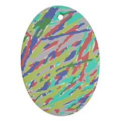 Crayon Texture Oval Ornament (two Sides) by Nexatart