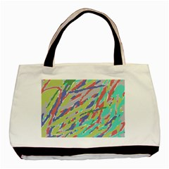 Crayon Texture Basic Tote Bag (two Sides)
