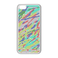 Crayon Texture Apple Iphone 5c Seamless Case (white) by Nexatart