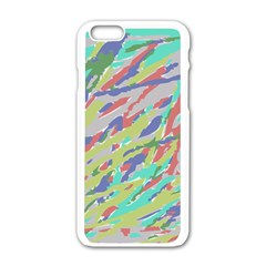 Crayon Texture Apple Iphone 6/6s White Enamel Case by Nexatart