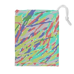 Crayon Texture Drawstring Pouches (extra Large)