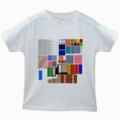 Texture Package Kids White T Shirts